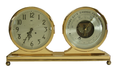 Chelsea Clock Desk and Barometer Set - After Picture