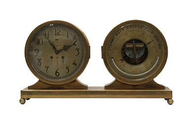 Chelsea Clock Desk Clock and Barometer Set- Before Picture