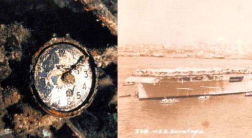 Chelsea found aboard the USS Saratoga, air craft carrier from 1920.