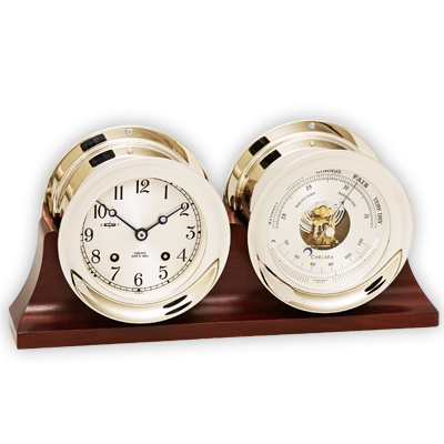 Ship's Bell Clock and Barometer Set