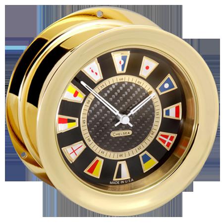 Chelsea Clock Carbon Fiber Flag Clock