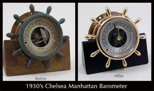 Antique Chelsea Manhattan Barometer