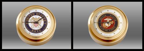 Chelsea Clock Military waterfall paperweight clock