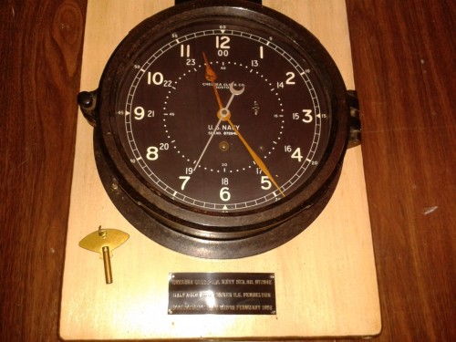 This clock was rescued from the Pendleton shipwreck and can be viewed at the Orleans Historical Society and Museum. It still keeps perfect time.