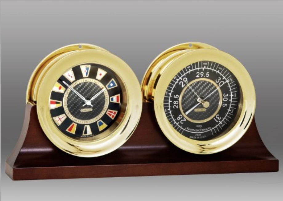 Flag Clock and Barometer Set