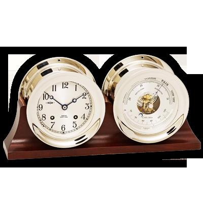 Ship's Bell Clock and Barometer Set