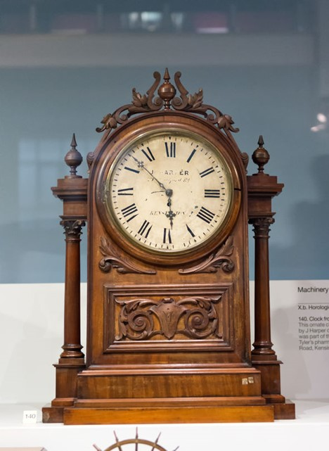 Antique Mantel Clock Wooden