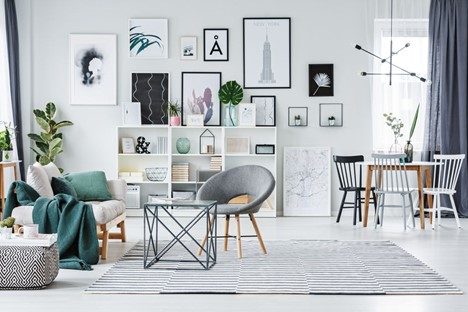 Apartment with Hanging Pictures