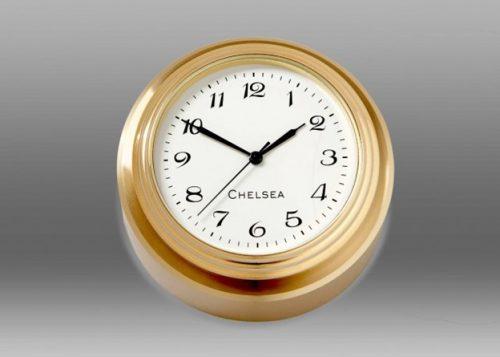 Waterfall Brass Paperweight Clock