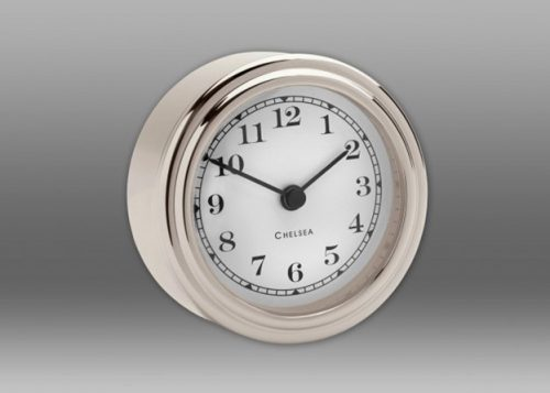 Harwich Desk Clock - Nickel