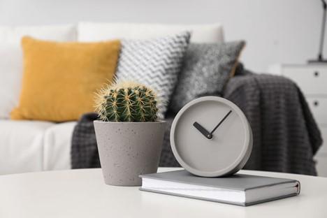 Grey desk clock