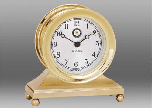 Brass U.S. Navy Constitution Clock