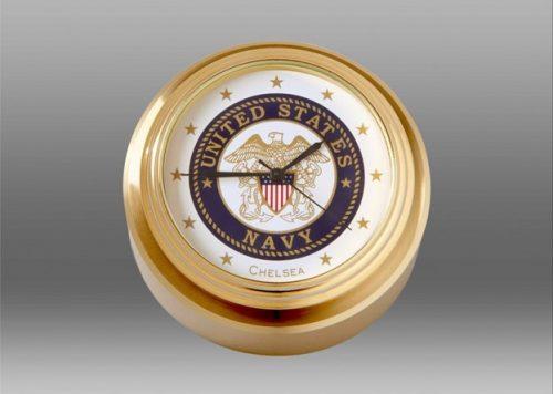 U.S. Navy Waterfall Paperweight Clock