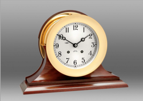 """6"""" Ship's Bell Clock, Traditional Base"""