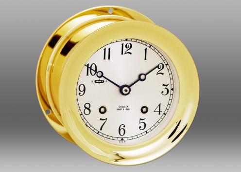 "6"" Ship's Bell Clock in Brass"