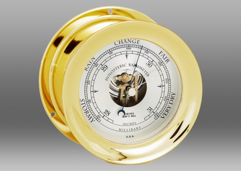 "4 1/2"" Ship's Bell Barometer in Brass"