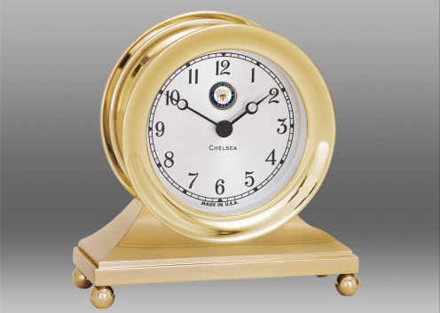 US Navy Constitution Clock in Brass