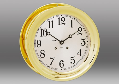 "8 1/2"" Ship's Bell Clock in Brass"