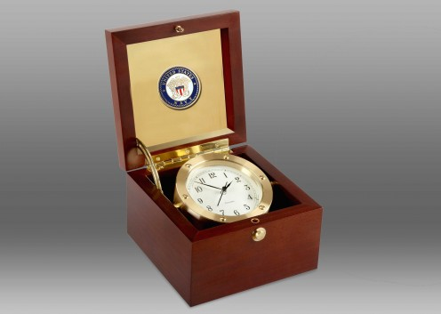 US Navy Boardroom Clock in Brass