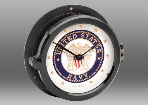 Patriot Deck U.S. Navy Clock - Black Hands