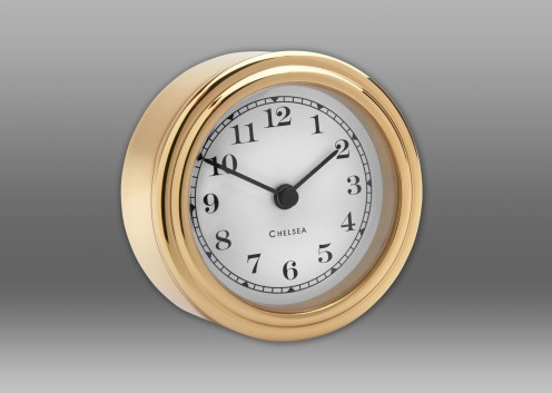 Harwich Desk Clock, Brass