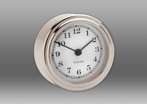 Harwich Desk Clock, Nickel