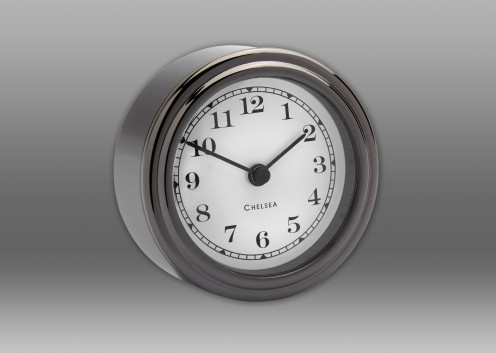 Harwich Desk Clock, Black Titanium