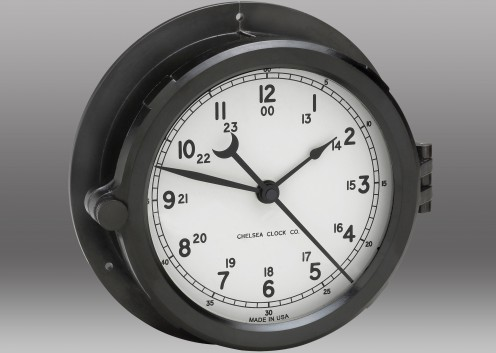 "Patriot Deck Clock - 8.5"" White Dial"