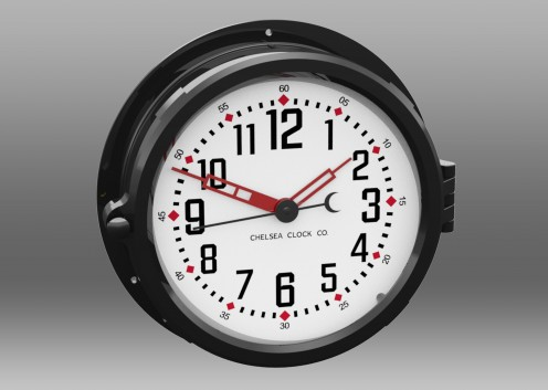 "NEW! Patriot Colors Clock - 8.5"" White Dial"