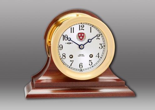 """4 1/2"""" Ship's Bell Clock,  Traditional Base"""