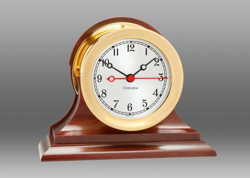 "4 1/2"" Shipstrike Quartz Clock on Base"