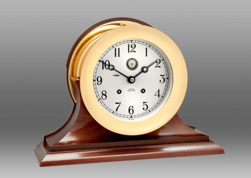 "US Navy 6"" Ship's Bell Clock on Traditional"