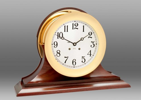 """8 1/2"""" Ship's Bell Clock, Traditional Base"""