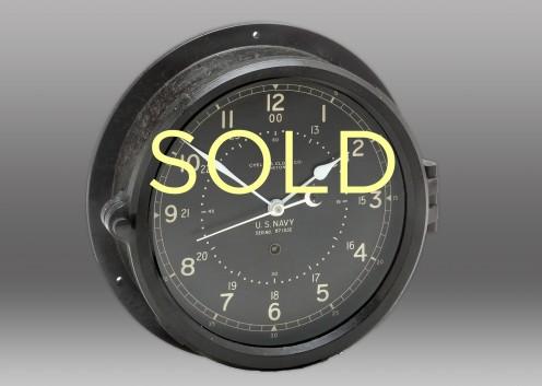 "8 1/2"" Marine Black Phenolic Chelsea Clock, 1943"
