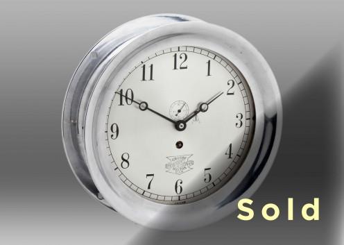 """8 1/2"""" Crosby Steam Gauge Clock"""