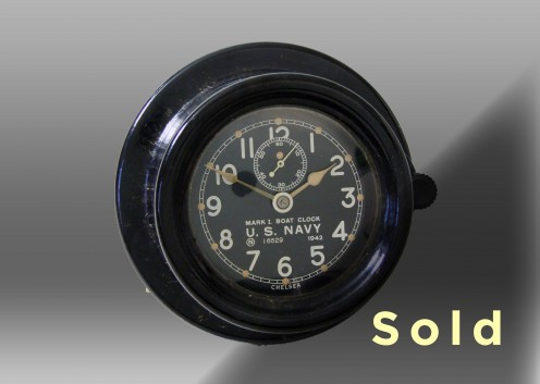 "3.75"" Marine Mechanical Navy Boat Clock, 429112"