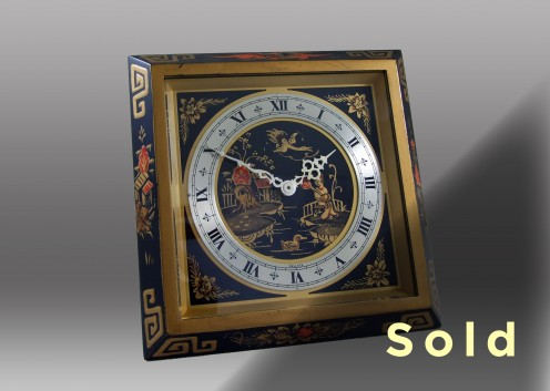 Chinese Lacquered Clock