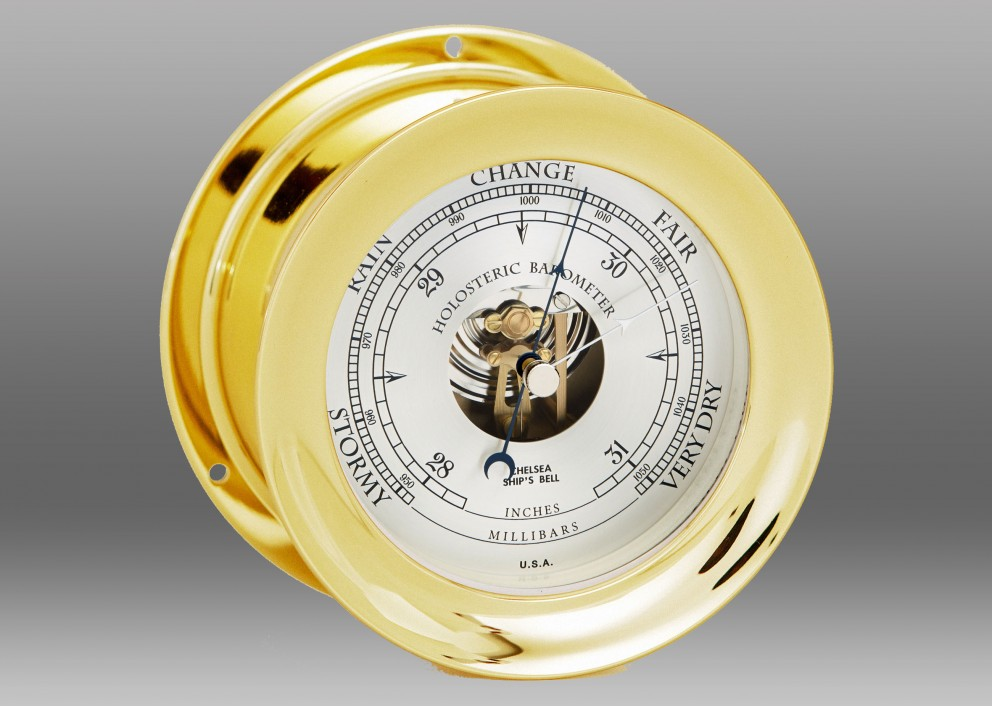 "4 1/2"" Ship's Bell Barometer in Brass"