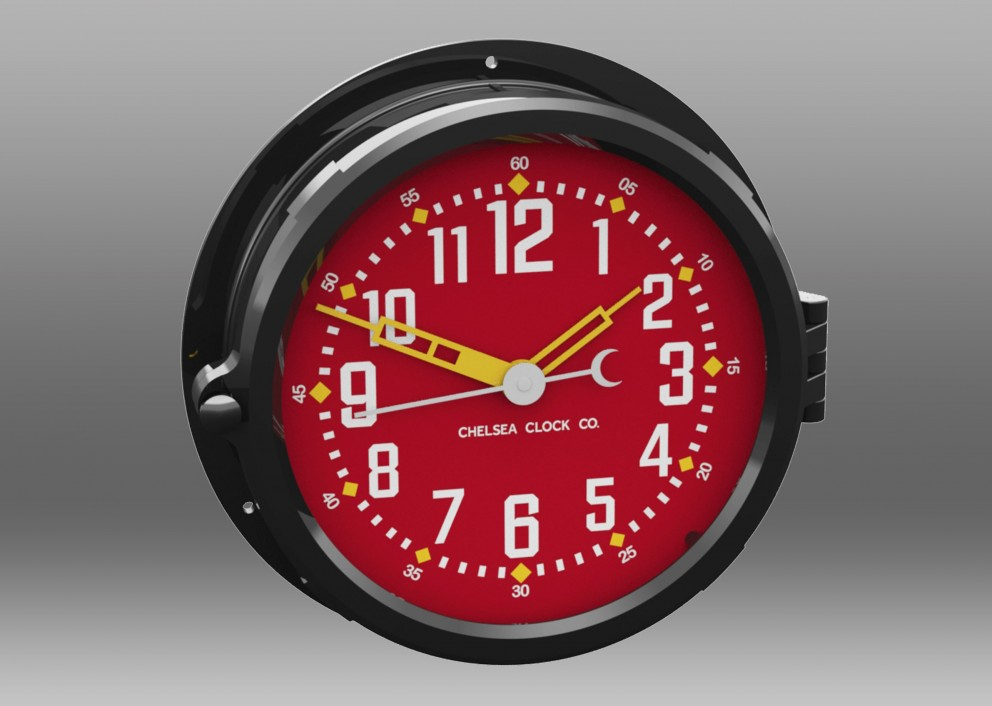 "Patriot Colors Clock - 8.5"" Red Dial"
