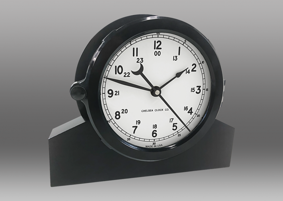 "Patriot Deck Clock and Base - 8.5"" White Dial"
