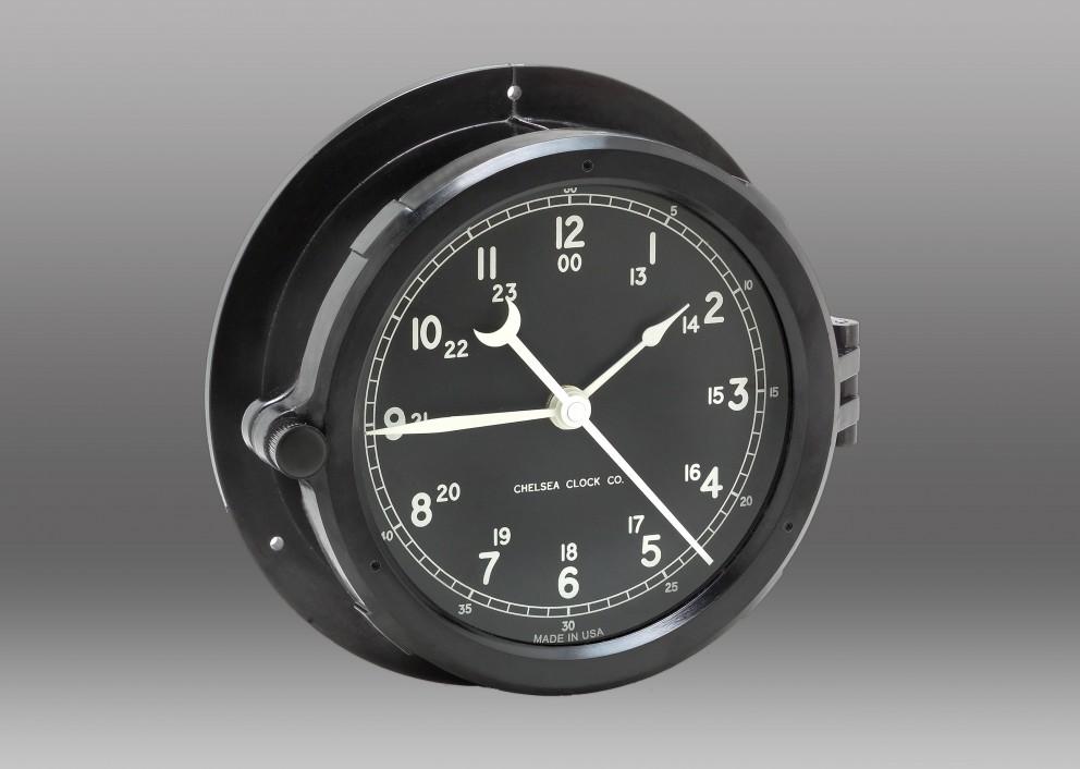 Patriot Deck Clock - Black Dial