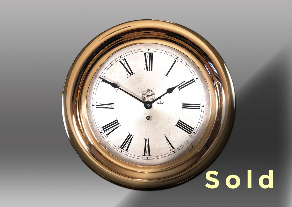 "10"" Marine Mechanical Clock, 1904"