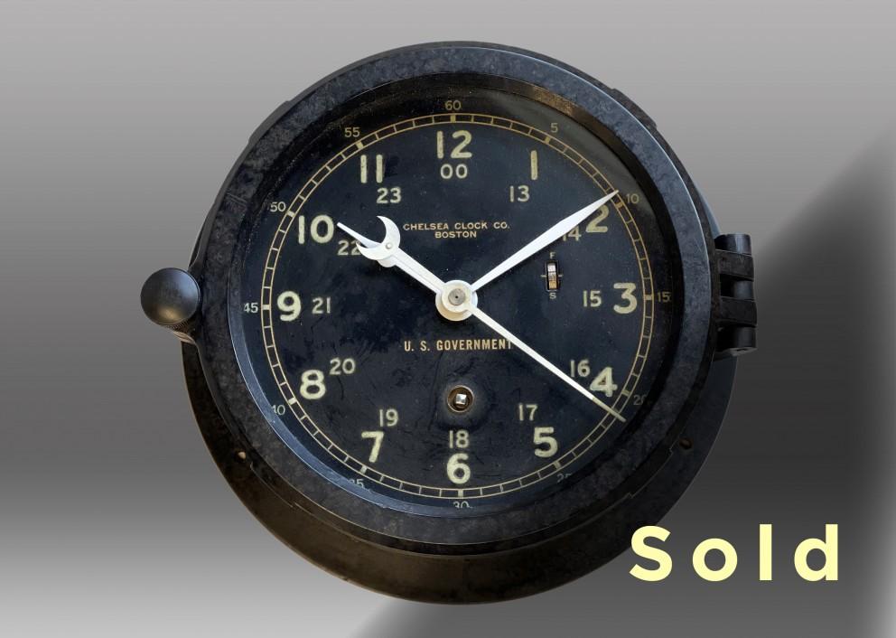 "6"" Marine Mechanical Clock, 1966"