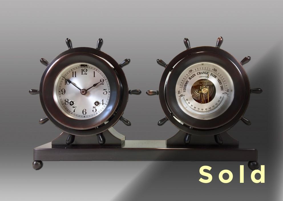 "3 ¾"" Claremont Clock & Barometer Set"