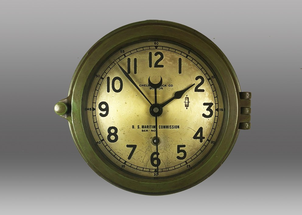 "6"" Marine Mechanical Clock, 1944"