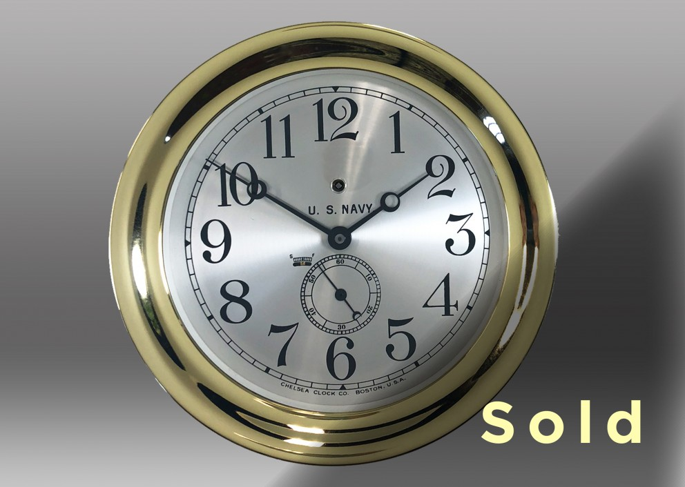 """8.5"""" Pilot House Mechanical Clock, 1918"""