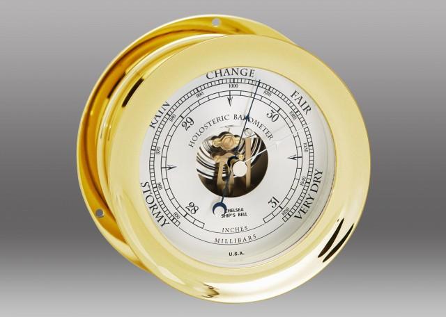 "6"" Ship's Bell Barometer in Brass"