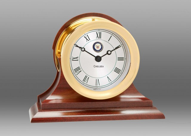 US Navy Presidential Clock in Brass