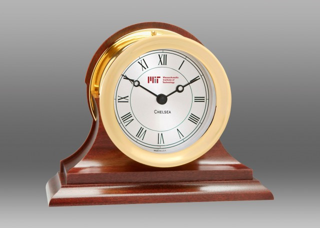 Presidential Clock in Brass