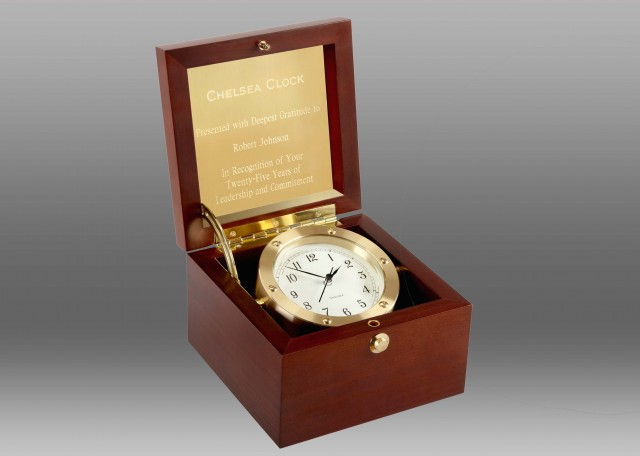 Boardroom Clock in Brass